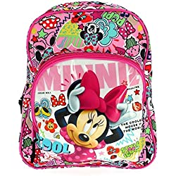 Minnie Mouse Cool - Mochila infantil 34 cm adaptable a carro (Safta 611848609)