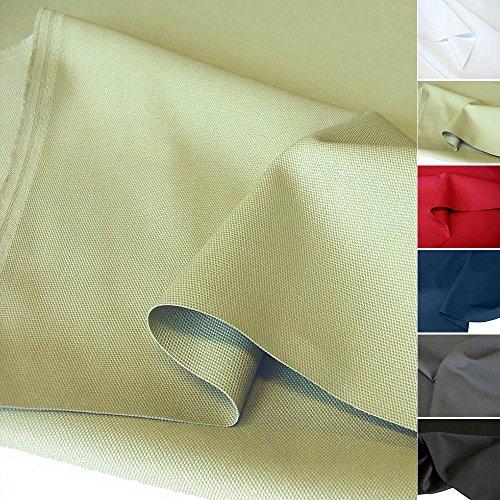 TOLKO Baumwollstoff Meterware mit Polyester | Mittelschwerer Canvas Segeltuch Stoff als Stabiler und Reißfester Polster Möbelstoff zum Nähen und Beziehen (Grün-Beige) - Polster Stoff Sofa
