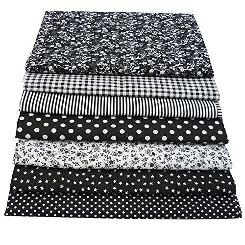 7pcs 50cm*50cm Black 100% Cotton...