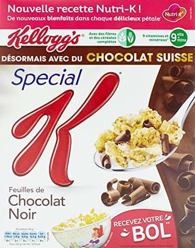 Kellogg's Spécial K feuilles de chocolat noir 300g Envoi Rapide Et Soignée ( Prix Par Unité )