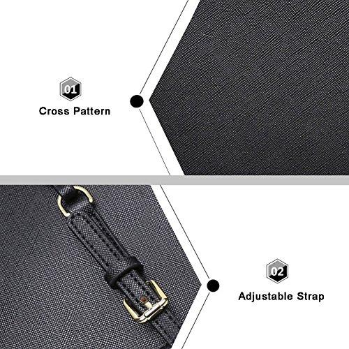 Borse da tela di grandi dimensioni di modello della traversa di Yoome per sacchetti di sacchetto del sacchetto della borsa delle donne trucco per le ragazze - L.Grey L.Grey