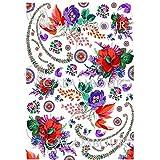 PAPEL DE ARROZ GIPSY FLORES 35x50cm Ref. DGR303