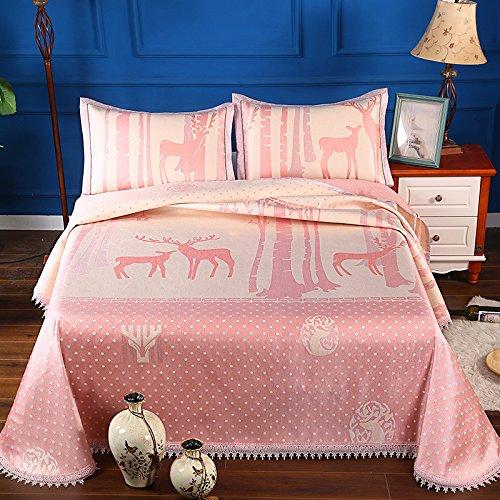 XING GUANG Sommer Neue Waschbare Silk Mat Drei Sätze von Blättern 2,0 M Bett 600D Klimaanlage Weiche Matte,Q(250*250cm) (Ozean-bett-satz)