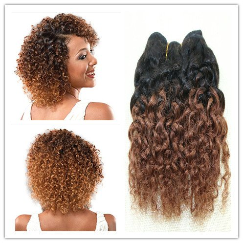 Extension per capelli crespi ricci, 17,8cm, 4 pezzi a lotto, da 100g, 100% capelli veri, colore t1b33#