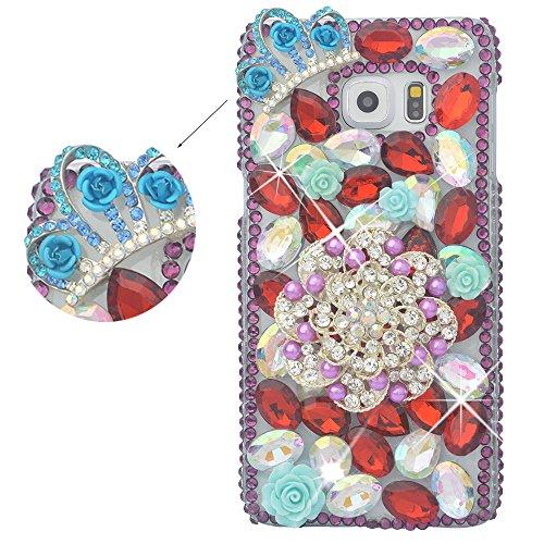 spritech (TM) Luxus 3D Handgefertigt Fashion Girl Frau Elegant Rose Blume Bling Full Diamant Design klar Hard Caver Fall, style-3, Samsung Galaxy S5