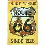 Ruta 66 signos de estaño vintage decoracion pared metálica pegatina las placas de metal decorativo para pared barra de Arte Artesanía placa JH-00666