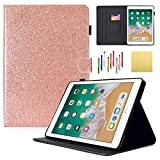 iPad Air Case, Dteck Sparkly Glitter PU Leather Flip Stand
