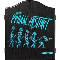 Winmau Man Cave Cible de fléchettes Cabinet–s'adapter à tous les cibles en poils–Primal Instinct