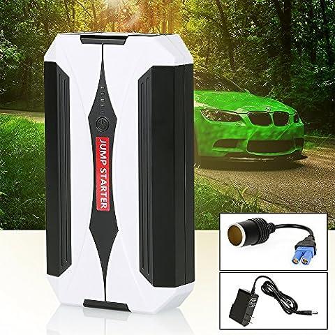 Zipom Portable Car Jump Starter 8000mAh 400A Peak Ampère chargeur auto power bank Booster de batterie, portable, Car Jump Starter, SOS lampe de poche à LED avec deux ports USB, Multi Usage pour téléphone/tablette Camera