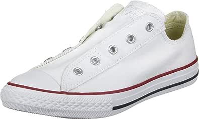 Converse 3V018 White Scarpe Unisex ct as Slip Yth Basse Elastico