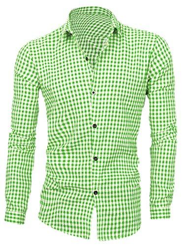 sourcingmap-hombre-botonadura-simple-manga-larga-cuello-de-punto-escocesa-estampado-camisas-camisa-d