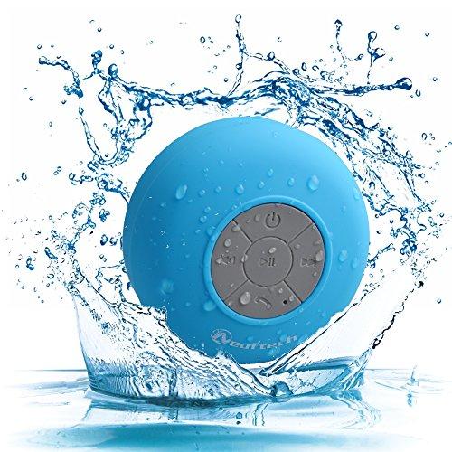 Neuftech Bluetooth Cassa Altoparlante Impermeabile da Doccia - Wireless Speaker Waterproof Con Microfono Integrato Per Smartphone Apple iphone 6s 6 Plus 5s 5c 4s, Samsung Galaxy S6 Edge S5 Note 5 4 3, HTC, Mp3 Player - Azzurro
