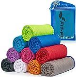 Cooling Towel für Sport & Fitness - Mikrofaser Handtuch/Kühltuch als kühlendes Handtuch für Laufen, Trekking, Reise & Yoga - Cooling Towel