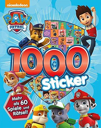 Preisvergleich Produktbild Nickelodeon Paw Patrol - 1.000 Sticker: Mehr als 60 Spiele & Rätsel