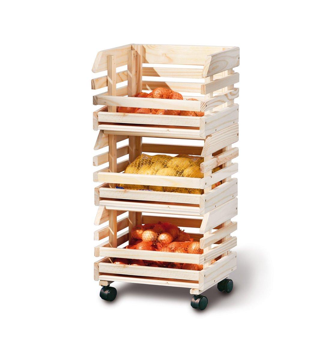 Links 60100400 Etag Re Cagettes En Bois Empilables Pour Fruits  # Etagere Cagette Bois