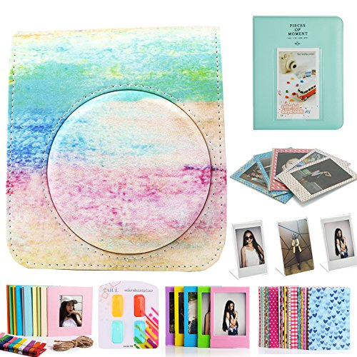 CAIUL 8 in 1 para Mini 70 Cámara Accesorios Set con Funda, Album de Fotos, Filtros, Marco y Otros Accesorios (Rainbow Mist)