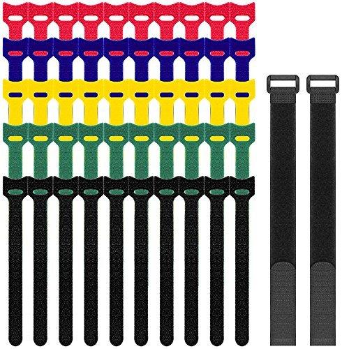 SENHAI 52 PC Gancho y Lazo Strips,