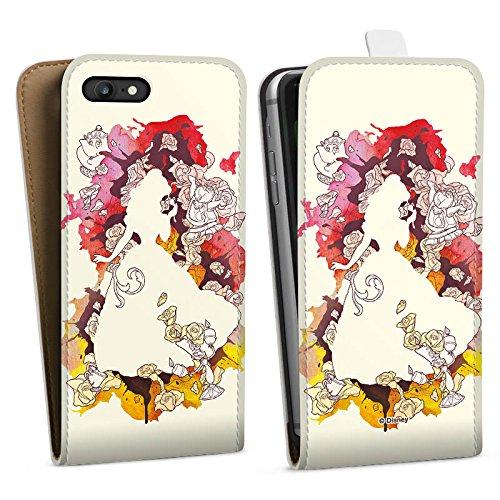 Apple iPhone 8 Plus Tasche Hülle Flip Case Disney Belle Die Schöne und das Biest Downflip Tasche weiß