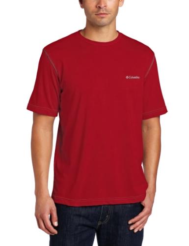 Columbia herren   Henley Shirt  -  rot -  (Henley Columbia)