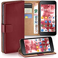Huawei Honor 6 Hülle Dunkel-Rot mit Karten-Fach [OneFlow 360° Book Klapp-Hülle] Handytasche Kunst-Leder Handyhülle für Honor 6 Case Flip Cover Schutzhülle Tasche