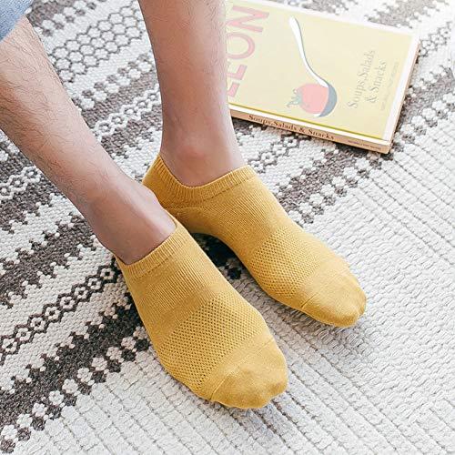 Fußkettchen Herren-socken (DEBJKJSK Herren Sommer Baumwolle unsichtbare Fußkettchen, Herren atmungsaktive Casual Socken, Geschenke für Männer 5 Paar)