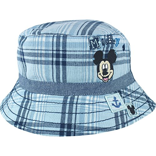 c6d9b482338 Boy s Disney Mickey Mouse Blue Check Bucket Style Summer Sun Beach Hat  (12-23 Months) - Buy Online in Oman.