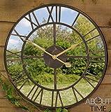 About Time Gartenuhr mit verspiegeltem Zifferblatt