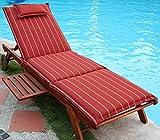 Hambiente Auflage Sonnenliege waschbar mit Reißverschluss, Nackenkissen in terracotta VE71