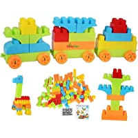 Tinny Time First Builders Big Building Bag with Big Building Blocks, Building Toys for Toddlers (100 Pieces)