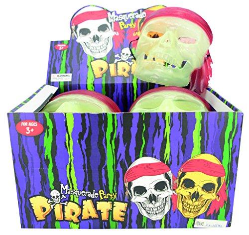 Imagen de disfraz p00112–calavera de pirata máscara glow in the dark alternativa