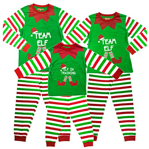 "Kids ""Elf In Training"" Matching Family Christmas Elf Pyjamas - 6-7 Years"