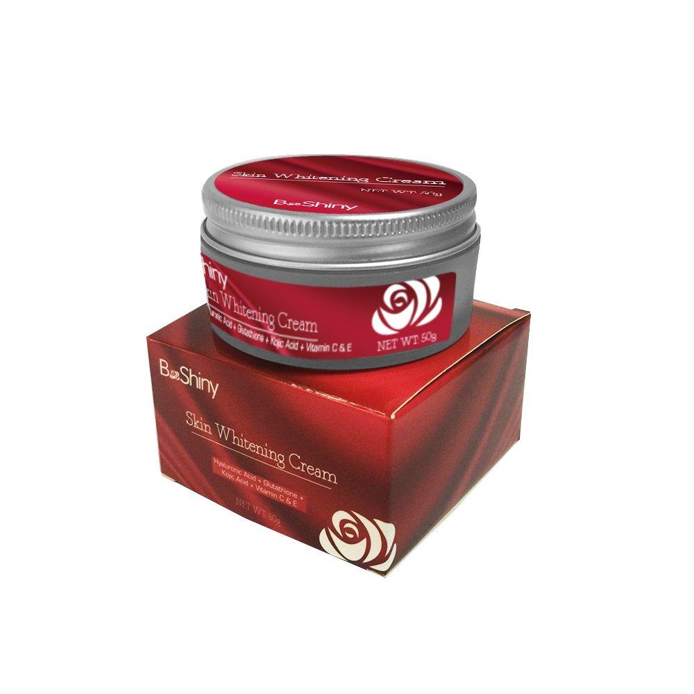 Crema Blanqueadora Hidratante para la Piel con Ácido Kojico Vitamina C Ácido Hialurónico – Mejor Crema Blanqueadora, Anti-Envejecimiento, Antiarrugas, Hiperpigmentación Melisma y Piel Oscura – 50g