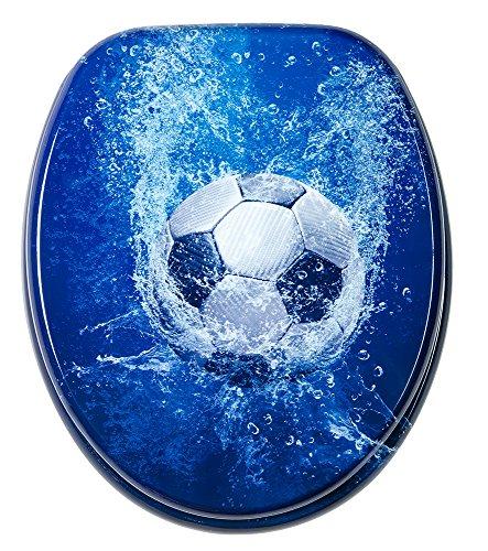 WC Sitz, hochwertige Oberfläche, einfache Montage, stabile Scharniere, Soccer