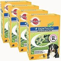 Pedigree Dentastix Fresh Friandises pour Grand Chien, Bâtonnet à Mâcher pour l'Hygiène Bucco-Dentaire 28 Sticks - Pack de 4
