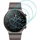 J&D Kompatibel för Huawei Watch GT2 Pro skärmskydd (3-pack), inte full täckning, inte glas mjuk hud HD klart skärmskydd för H