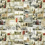 Fabulous Fabrics Halbpanama Städte London – grau —