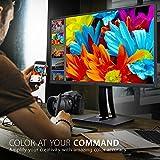 Viewsonic VP2785-4K 68,6 cm (27 Zoll) Fotografen Monitor mit Kalibrierfunktion (4K, IPS-Panel, 99% AdobeRGB, PIVOT, HDR10, USB-C) Schwarz