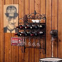 Weingestell Rotwein Rack Europische Stil Kreative Eisen Hngende Wnde Hohe Glas Bar Regale Weinstnder