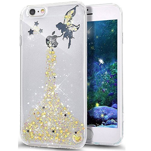 iPhone X 5.8 Pouce Coque Silicone Paillette Bling Bling Crystal Case,iPhone X Coque Ultra-Mince Transparente Etui Housse avec Bling Diamant,iPhone X Bling Brillant Glitter Transparente Soft Slim Silic Fairy Girl 3