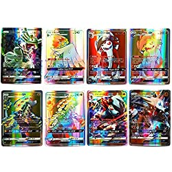 umebiz Pokemon Card, Pokemon Flash Card, Pokemon Card, 60 Carte GX Complete, 60 Carte Mega Complete (60 GX)(English)