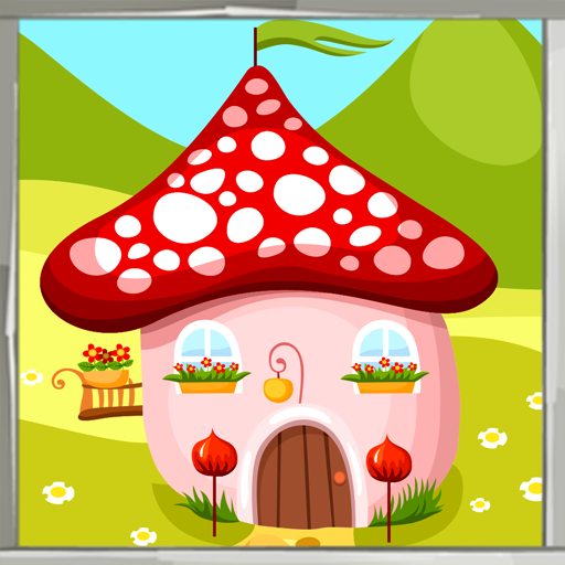 Süßes Haus Malbuch