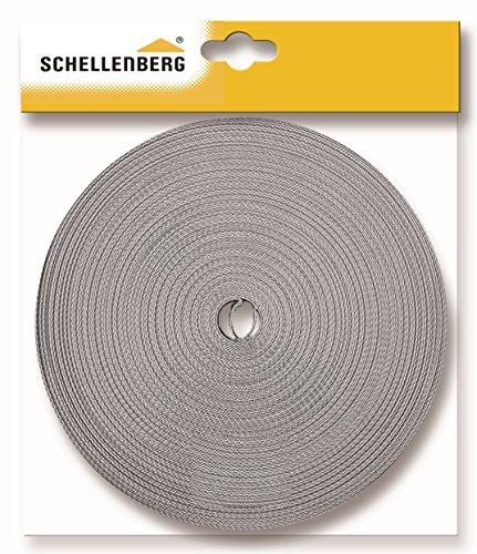 Schellenberg 31205 Rollladengurt Maxi 23 mm Breit, 12 m Lang, Rolladengurt einfach austauschen, grau, 1,0 mm (2 Baumwoll-gurtband)