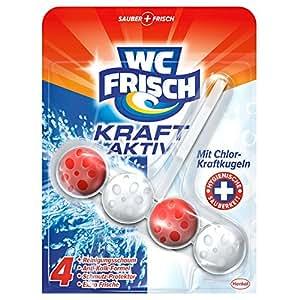 WC Frisch Kraft-Aktiv Duftspüler mit Chlor-Kraftkugeln, WC Frische, 5er Pack (5 x 1 Stück)