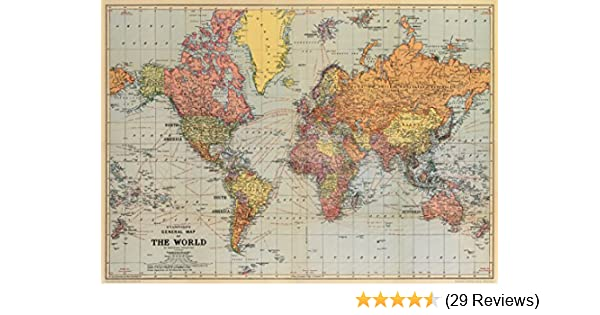 Cavallini world map wrapping paper amazon office products gumiabroncs Choice Image