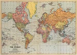 geschenkpapier weltkarte Cavallini Weltkarte auf Einwickelpapier: Amazon.de: Küche & Haushalt geschenkpapier weltkarte
