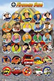 Fireman Sam-Feuerwehrmann Sam-Charaktere-61x 91.5cm zeigt/Poster