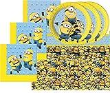 Motto Party Geburtstag Feier Dekoration Set: Servietten Tischdecke große Teller 29 Teile für 8 Kinder Minions