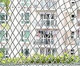 Yahee Reißfeste Katzennetz Sicherheitsnetz Balkonnetz Schutznetz für Balkon, Terrasse, Fenster 3 x 6 m Weiß
