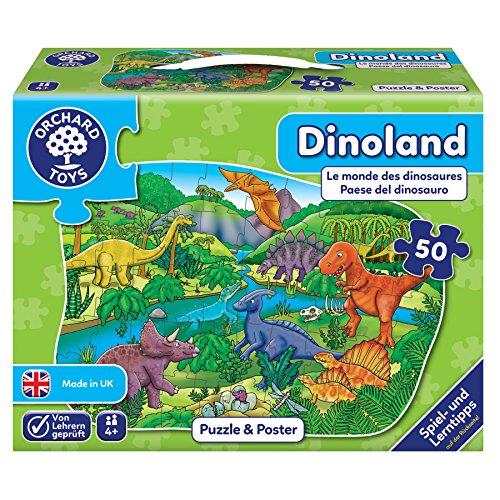 Orchard_Toys 10240-Puzzle, Dino País, 50Piezas, 58x 40cm