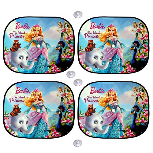 Premium Blue Barbie Doll Sun Shades / Car Curtain ( Set Of 4 ) For Hyundai I20 Elite  available at amazon for Rs.140